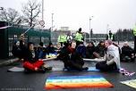Bild på ofogare på kärnvapenblockad i Aldermaston 2010