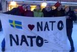 Bild på ofogaktivister inför rättegång i Luleå.