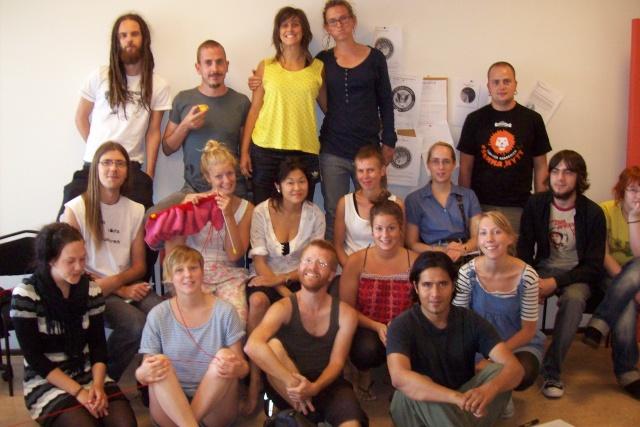 Gruppbild på kursdeltagare 2009