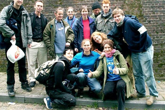 Gruppbild på aktivister