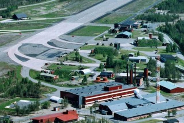 Bild på landningsbanan på provplats Vidsel i Norrbotten.